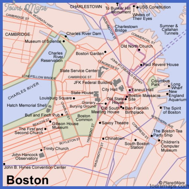 Boston Map Map Travel Holiday Vacations