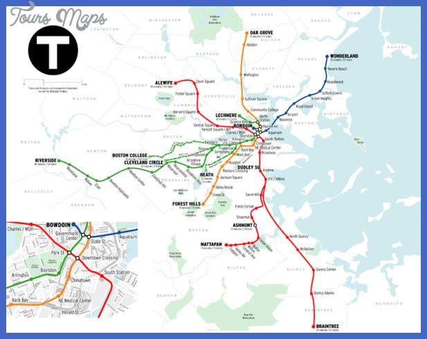 boston subway map  0 Boston Subway Map