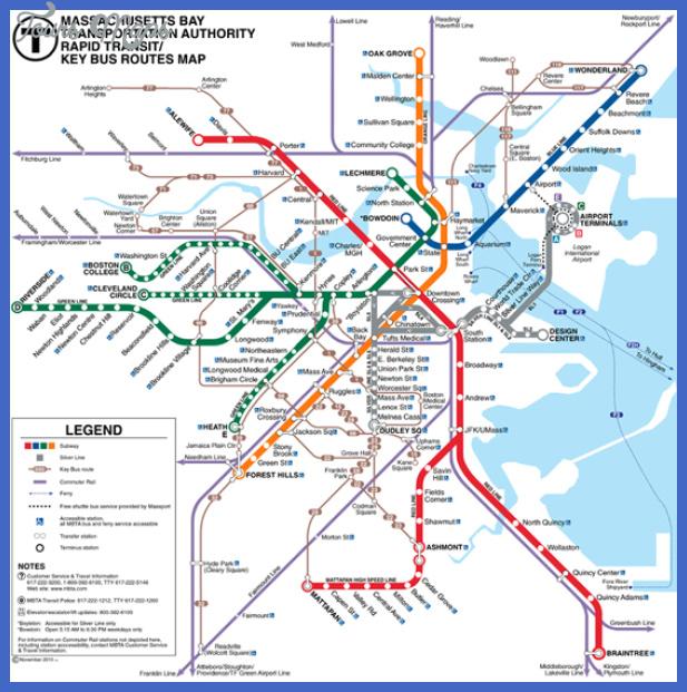 boston subway map map travel holiday vacations
