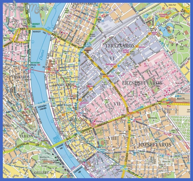 bpmap 1 Budapest Map Tourist Attractions