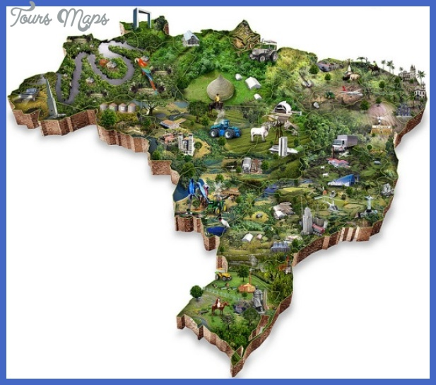brazil map tourist attractions  9 Brazil Map Tourist Attractions