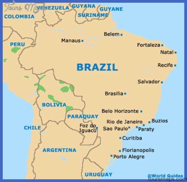 Map Of Tourist Attractions In Rio De Janeiro Brazil tourist map