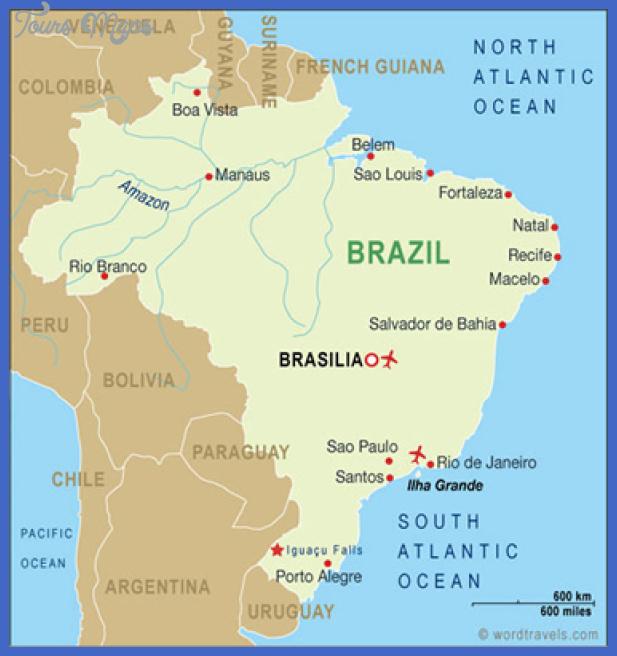 brazil map 01 Brazil Map