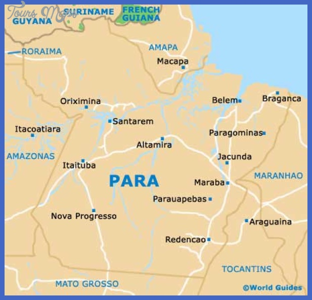 brazil para map Brazil Map Tourist Attractions