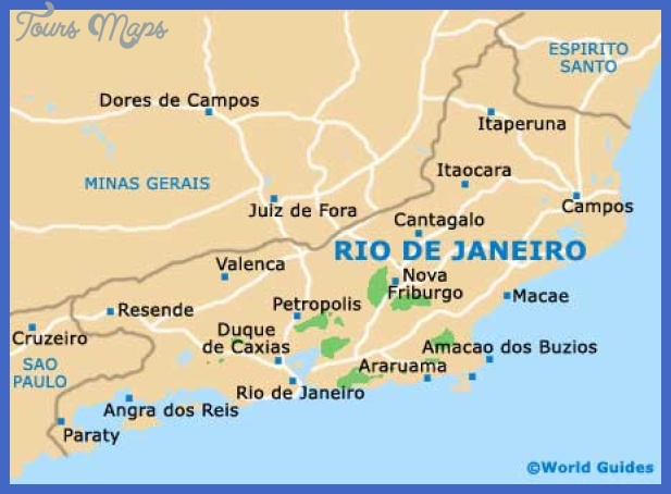 Rio de Janeiro Map Tourist Attractions ToursMapsCom – Brazil Tourist Attractions Map