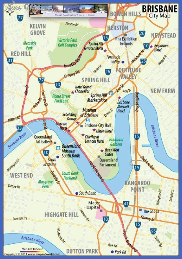Brisbane Australia Map • View Info On Brisbane Australia Map ...