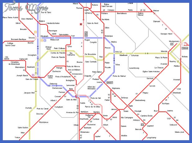 Belgium Metro Map - ToursMaps.com ®