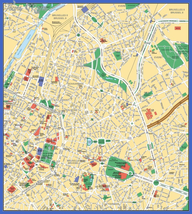 brussels map big 1 Brussels Map Tourist Attractions