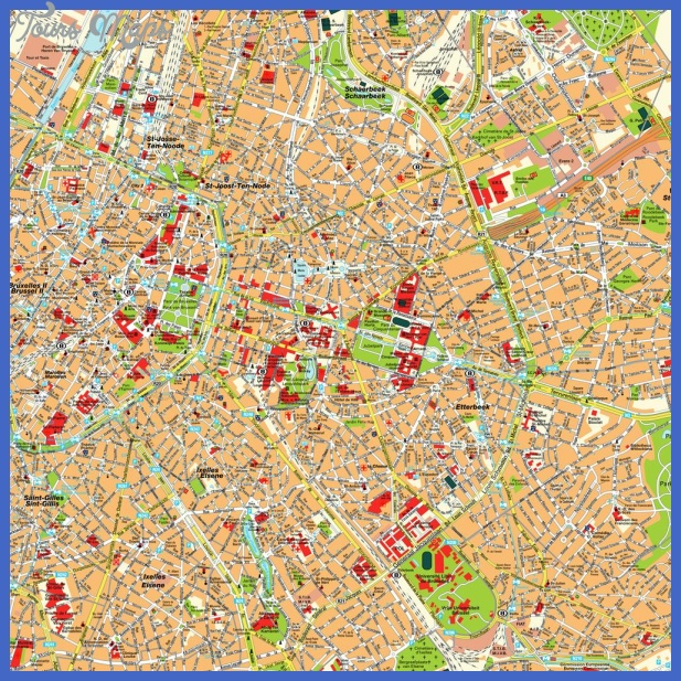 brussels map 1 Brussels Map