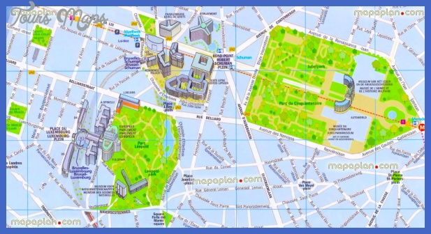 brussels top tourist attractions map 18 eu building european parliament institution district area city historical place visit high resolution Brussels Map Tourist Attractions