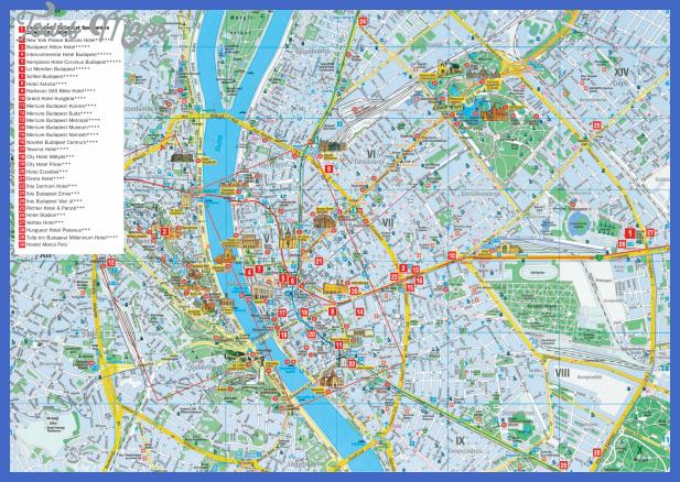 budapest hotel map Budapest Map