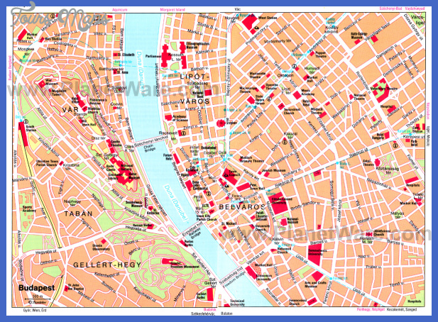 budapest map Hungary Map Tourist Attractions