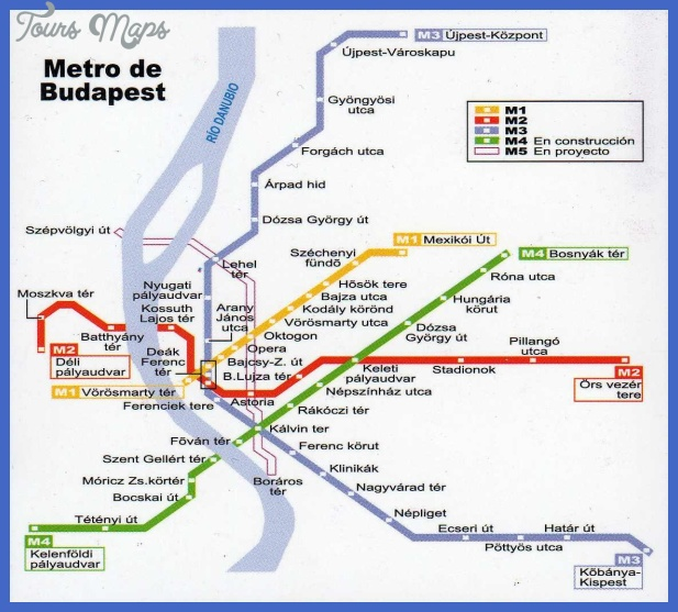 Budapest Subway Map English.Budapest Metro Map Toursmaps Com