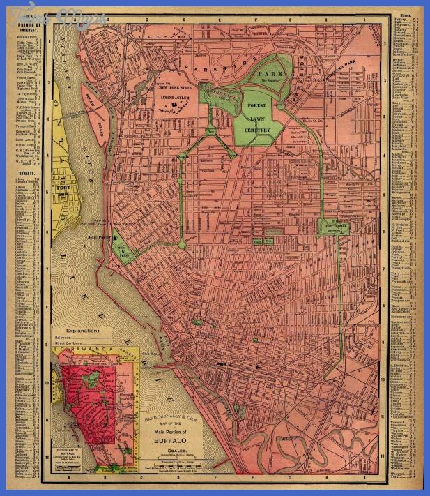 buffalo ny 1896 Buffalo Map