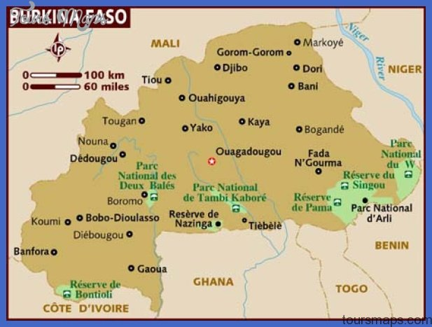burkina faso map tourist attractions 4 Burkina Faso Map Tourist Attractions