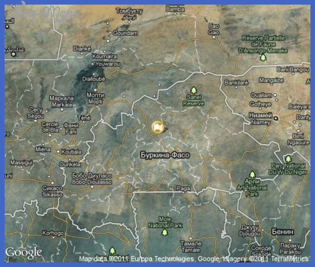 burkina faso map tourist attractions 5 Burkina Faso Map Tourist Attractions