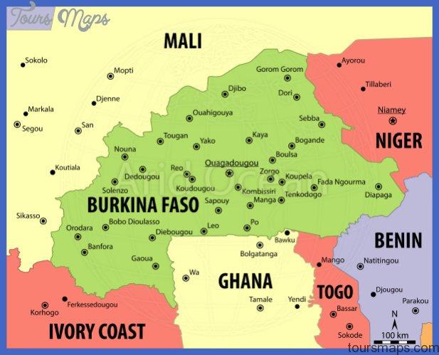 Burkina Faso Map - ToursMaps.com ®