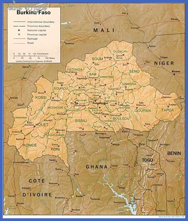 burkina faso map Burkina Faso Map Tourist Attractions
