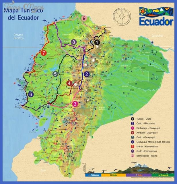 bus map ecuador Ecuador Metro Map