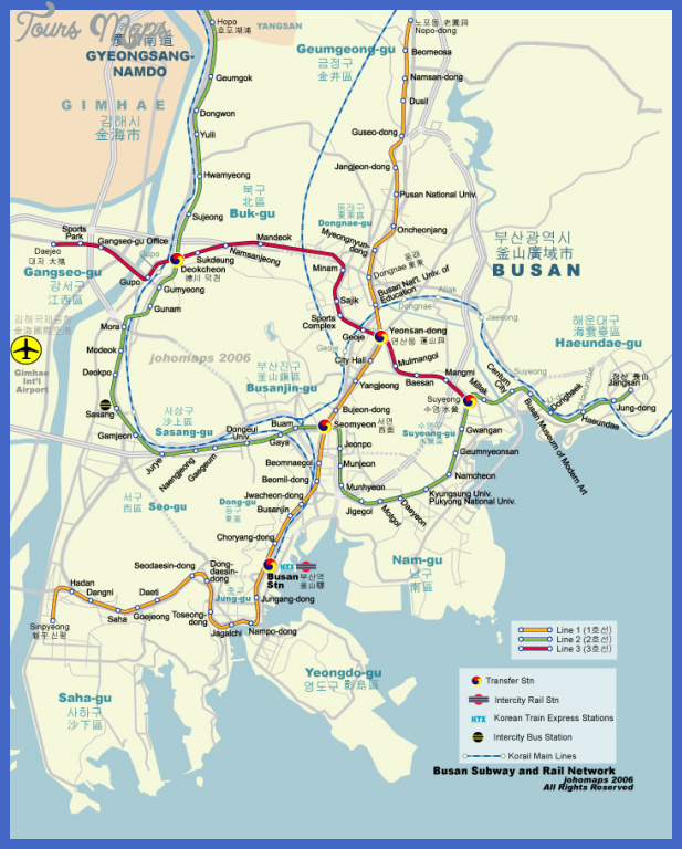 busan map 104 Korea, South Metro Map