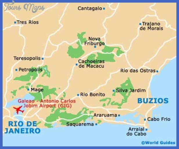 buzios map Rio de Janeiro Map Tourist Attractions