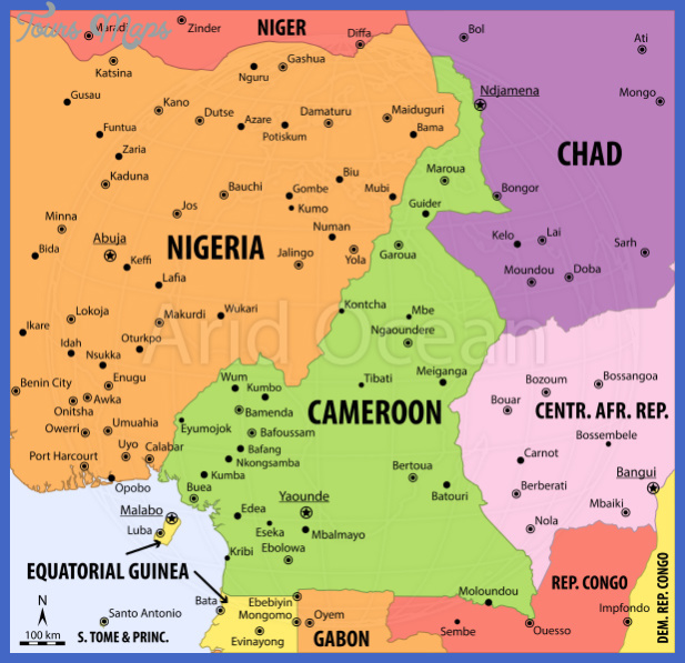 cameroon political map series vectormap a sku a7ajrv7 zoomimg Cameroon Map