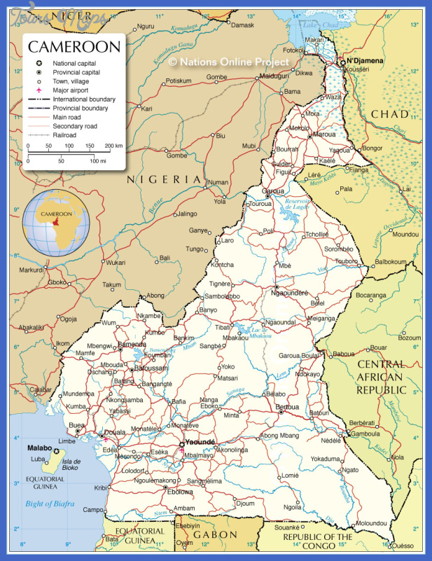 cameroon subway map  1 Cameroon Subway Map