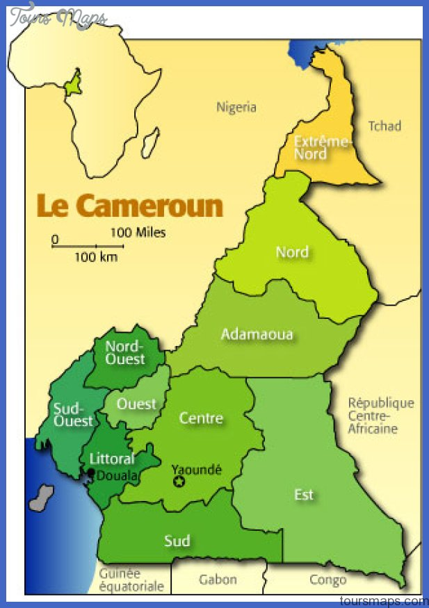 cameroun01 Cameroon Map Tourist Attractions
