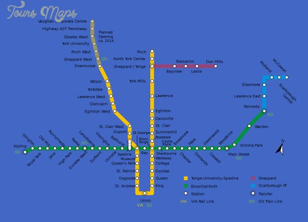 canada metro map  1 Canada Metro Map