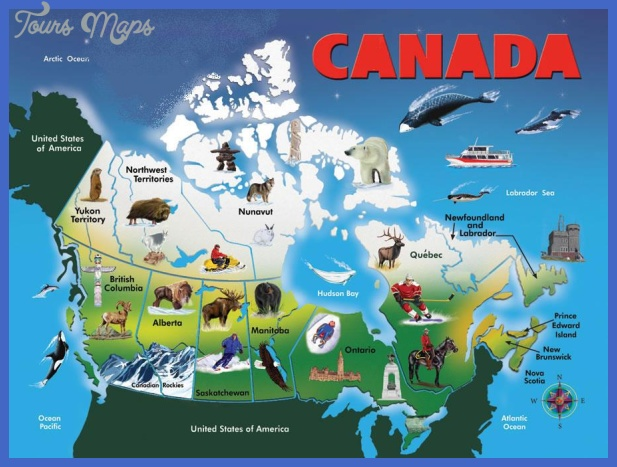 Canada Map Tourist Attractions ToursMapsCom – Tourist Attractions Map In Canada