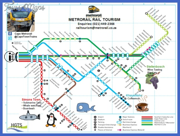 Cape Town Map Tourist Attractions ToursMapscom