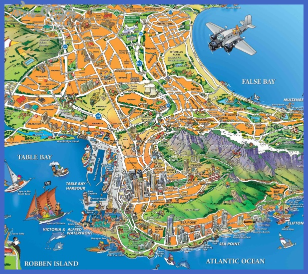 capetown tourist map Cape Town Map Tourist Attractions
