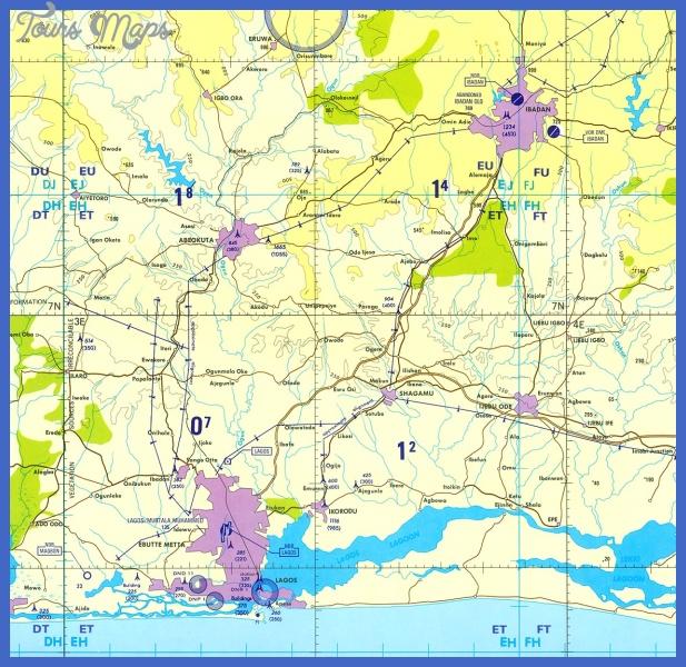 carta aeronautica de la region de lagos ibadan nigeria 10733 Lagos Map