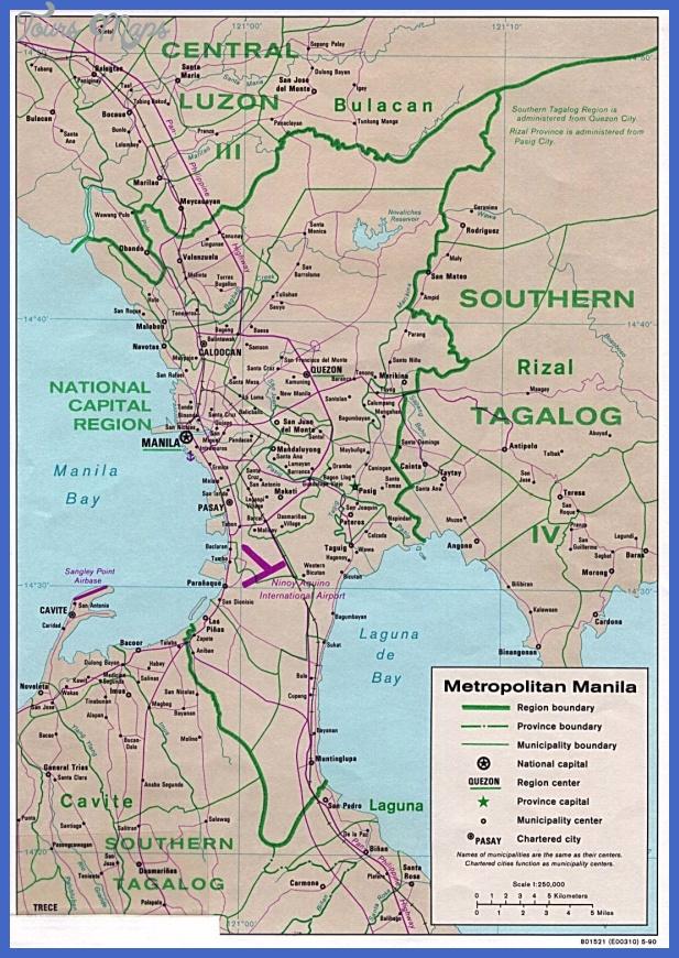 carte region manille legende Philippines Metro Map
