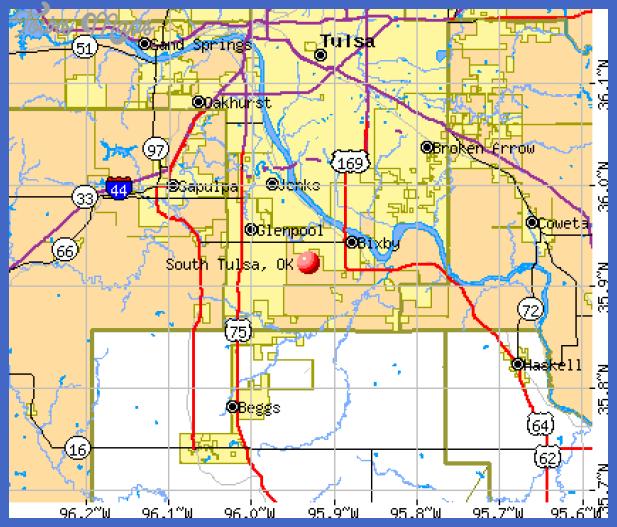 ccdmc1051 Tulsa Map Tourist Attractions
