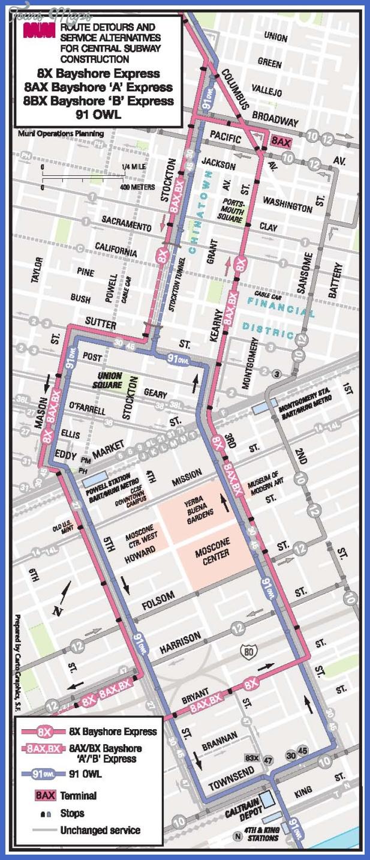 centralsubway8s 91rr Stockton Subway Map