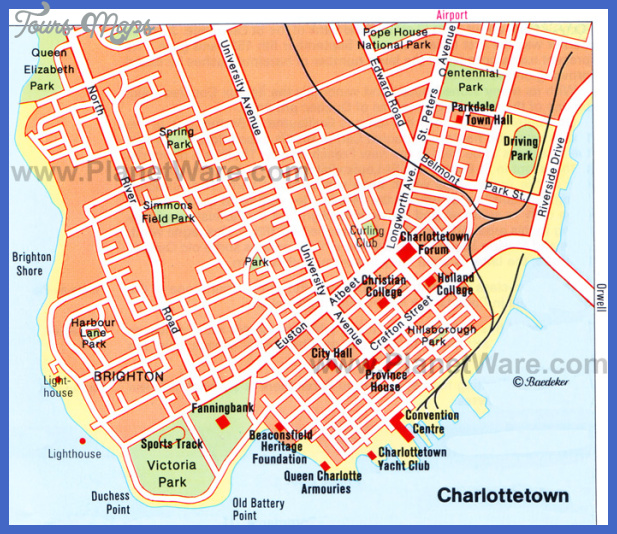 charlottetown map Charlotte Map Tourist Attractions