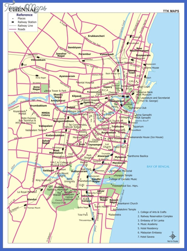 chennai map 7 Chennai Map
