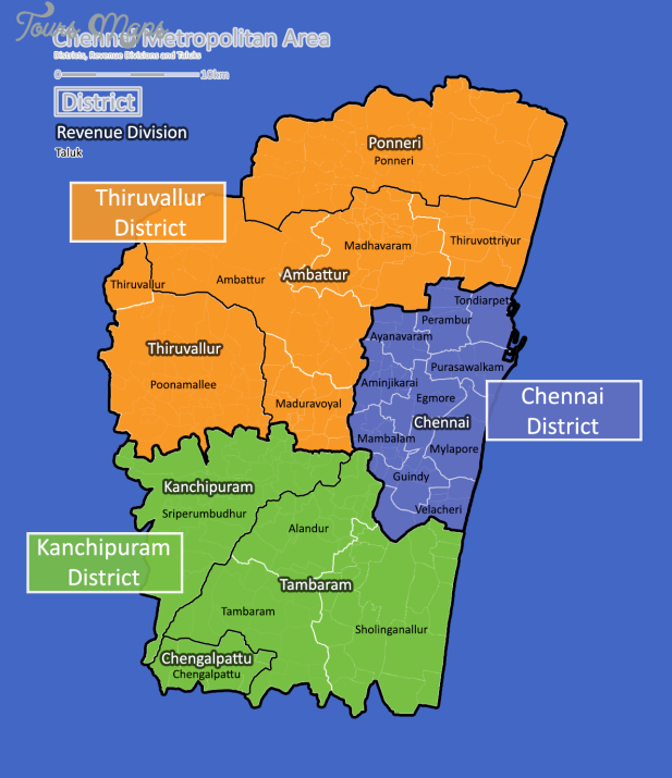 chennai revenue divisions map Chennai Map