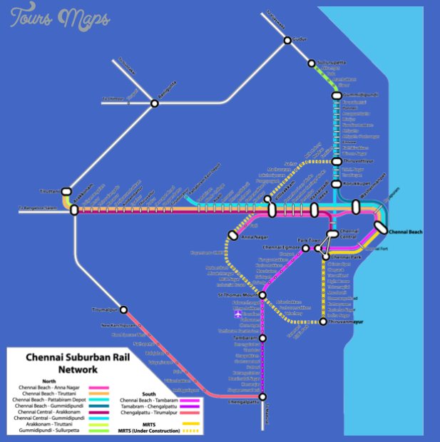 chennai suburban rail map India Metro Map
