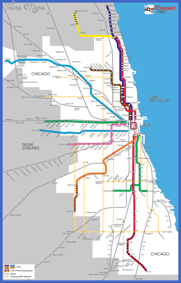 chicago brt Lagos Subway Map