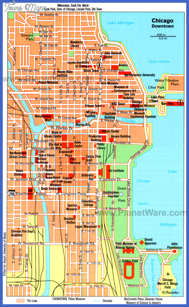 chicago downtown map Omaha Map Tourist Attractions