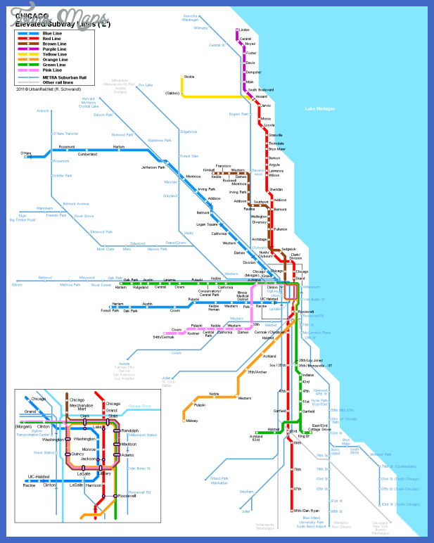 chicago map metro 1 Chicago Metro Map