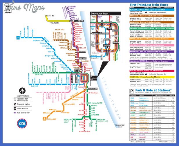 Chicago Metro Map Chicago Metro Map   ToursMaps.® Chicago Metro Map