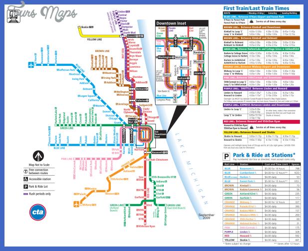 Chicago Subway Map Pdf Chicago Subway Map   ToursMaps.®