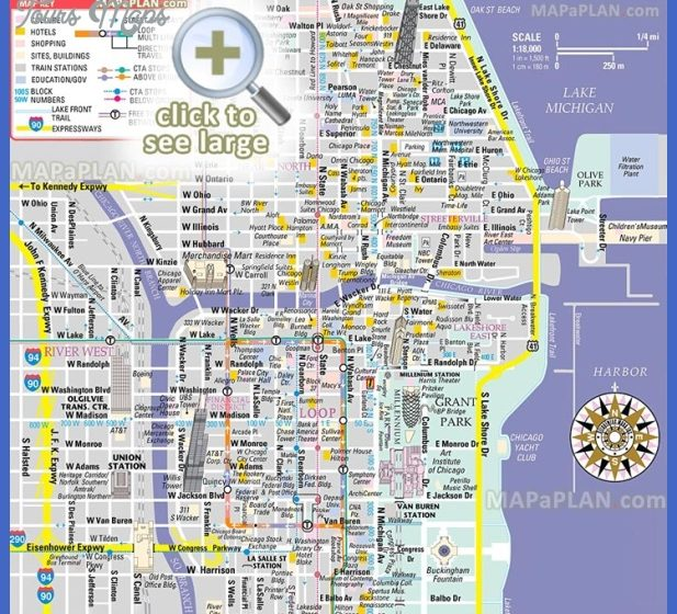 Chicago Map Tourist Attractions ToursMapsCom – Chicago Tourist Attractions Map