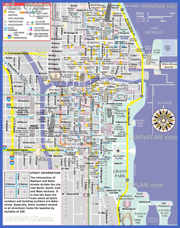 chicago top tourist attractions map 02 free inner city shopping main landmark great sight famous building historic spot high resolution Chicago Map Tourist Attractions