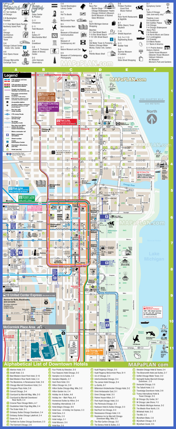 chicago top tourist attractions map 07 direction downtown hotel rta rail link transit river opera navy pier willis sears tower high resolution Chicago Map Tourist Attractions