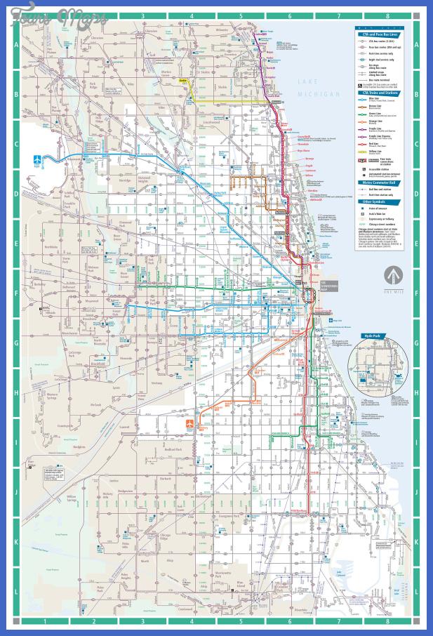 chicago transit map 2 Chicago Subway Map