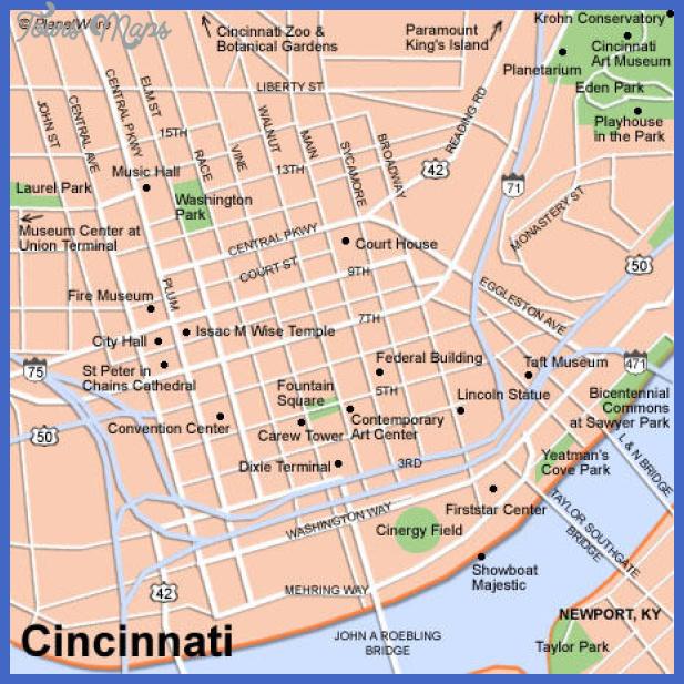 cincinnati map 0 Cincinnati Map